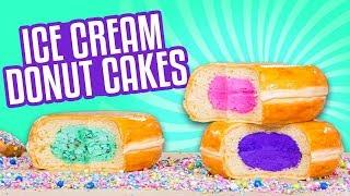 3 Flavors Ice Cream Donut CAKES!   How To Cake It