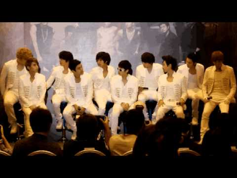 Super Junior at Super Show 3 Press Conference in Singapore