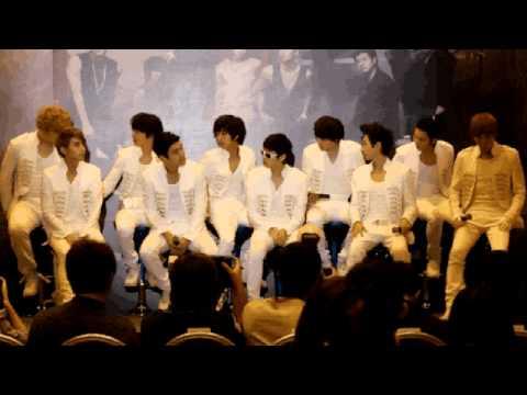 Super Junior at Super Show 3 Press Conference in Singapore