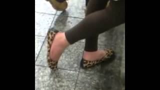 Candid Puerto Rican Shoeplay Dipping