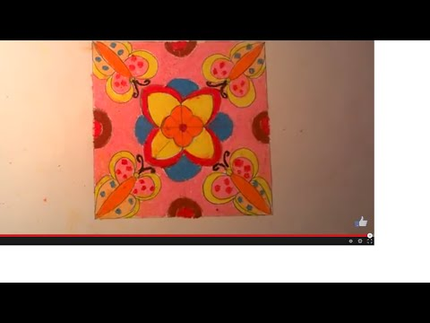 Vẽ trang trí hình vuông_ Tranh trang trí_ How to draw Decorative square