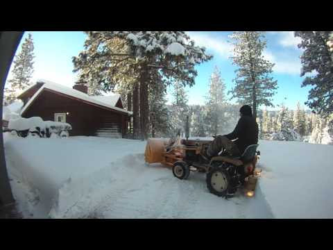 Gilson Cub Cadet Snow Blowing