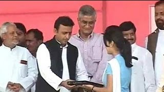 Akhilesh Yadav\'s free laptop story: a scheme riddled with debt and delays