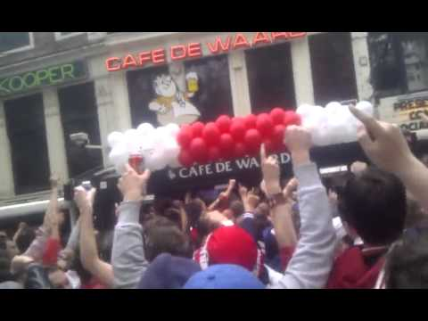 Ajax Kampioen 2011 Sfeerimpressie Leidseplein