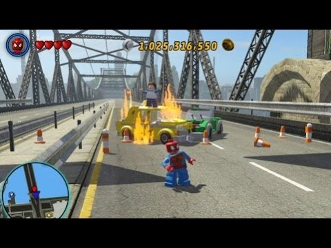LEGO Marvel Super Heroes - Residential Area 100% (All Collectibles - Gold Bricks/Tokens/Missions)