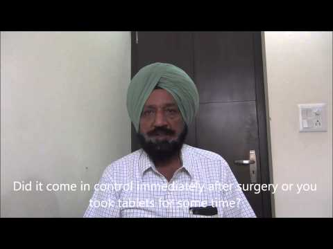 Diabetes treated and 88 pounds lost after weight loss surgery in India by Dr. Kular