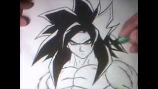 Re-Drawing SS4 Goku