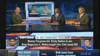 Manny Pacquiao Vs Ricky Hatton Post Fight Analysis 1 Of 2