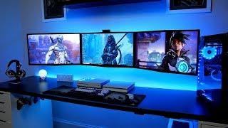 The Ultimate Gaming Setup Tour - Triple Monitor Gaming Setup