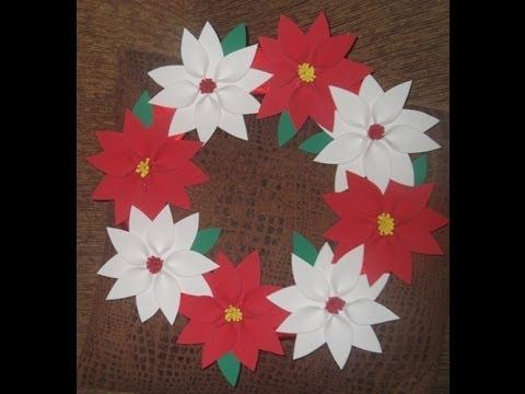 como fazer guirlanda de natal com flor de eva
