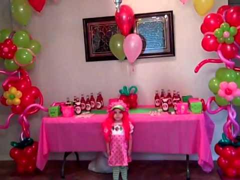 Arreglo con globos con rosita fresita - Imagui