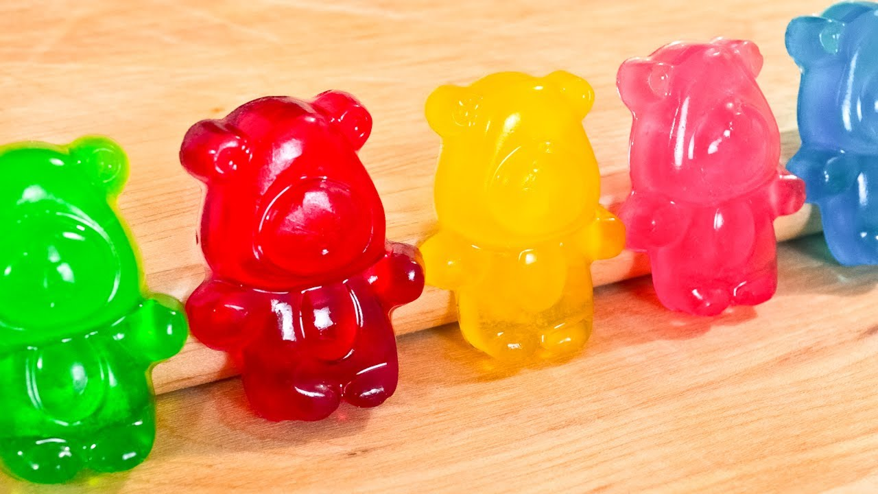 How To Make Gummy Bears Regular And Sour Video Recipe