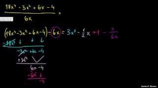 Deljenje polinoma – primer 1