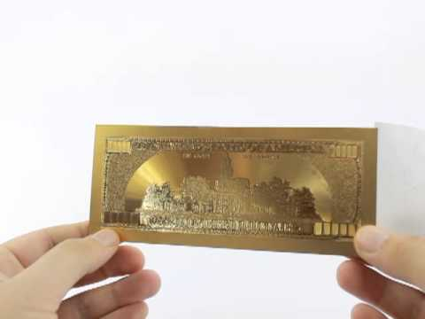 100 US Dollar Gold Design, highest quality on the market. Hot Sale on Ebay