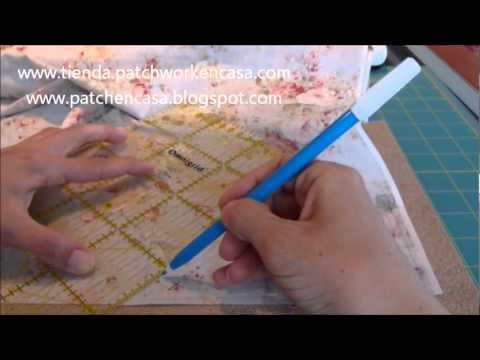 Como marcar los patrones en la tela patchwork youtube - Patchwork en casa patrones ...