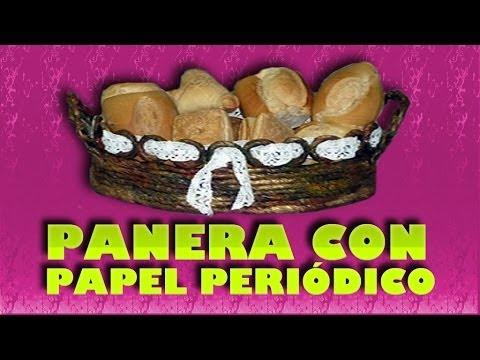 PANERA CON PAPEL PERIÓDICO