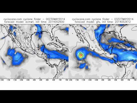 May 26 - severe weather outlook - Hurricane Amanda, 5% US tornado chance