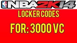 NBA 2K14 Locker Codes! Free 3K VC! PS3,PS4,XBOX ONE XBOX 360