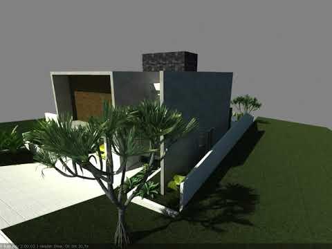 Maquete eletrônica de residência no Condomínio Reserva da Serra