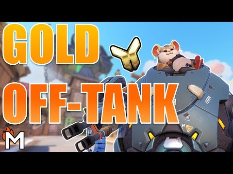 COACHING A HAMSTER: GOLD OFF-TANK (Blizzard World) Overwatch VOD Reviews (Gameplay Analysis)