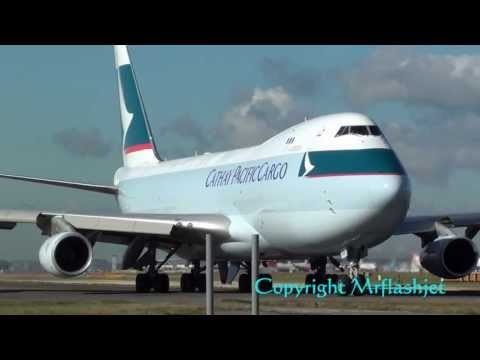 Cathay Pacific Cargo 747-400F {B-HUO}  at London Heathrow Airport