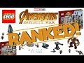 LEGO AVENGERS INFINITY WAR SETS RANKED Worst To First