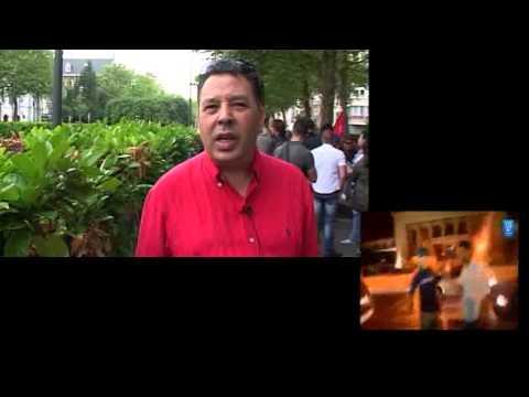 Manifestation ambassade du Maroc à Bruxelles contre la grâce royale accordée au pédophile