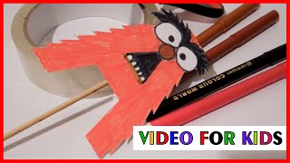 How to Make Alphabet Letters with Paper - Letter A - Tutorial