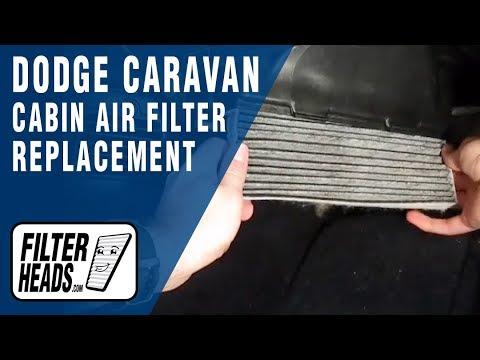 Cabin air filter replacement dodge caravan youtube for 2006 dodge grand caravan cabin air filter location
