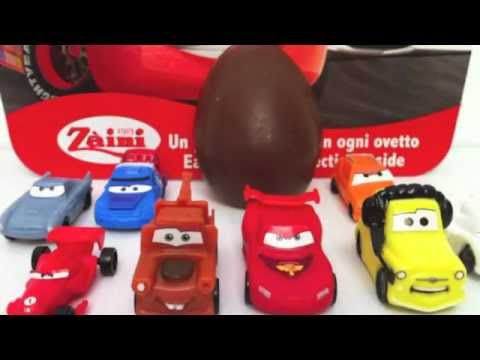Surprise Eggs Cars 2 Unboxing Disney Pixar toy gift - Kinder sorpresa huevo juguete regalo Cars