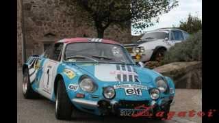 Alpine A110  Corse 1973 et JP NICOLAS