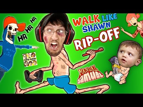 WALK LIKE SHAWN Video Game RipOff FGTEEV HILARIOUS Funny Fails w Manual Samuel the DOOFY ZOMBIE
