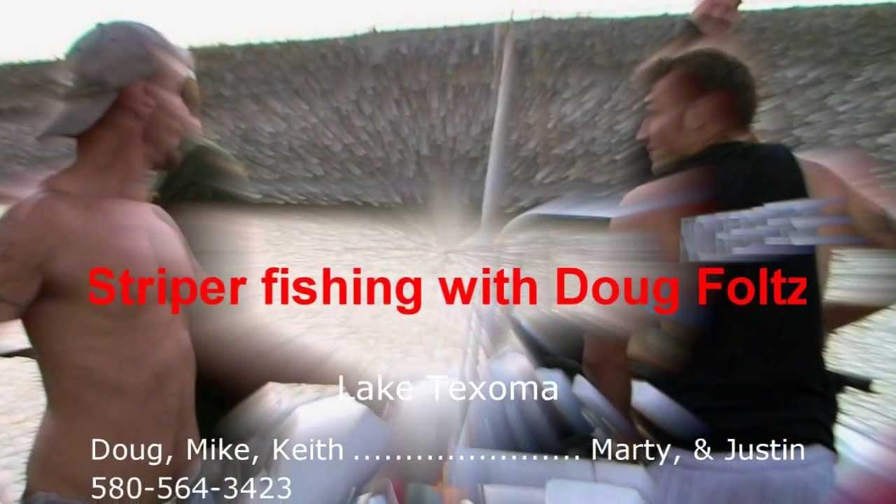 Striper excitement on lake texoma with doug foltz youtube for Texoma fishing license