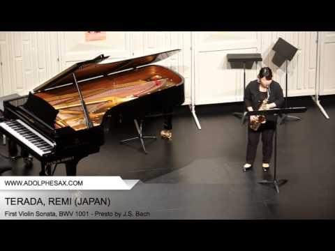 Dinant 2014 - TERADA, REMI (First Violin Sonata, BWV 1001 - Presto by J.S. Bach)