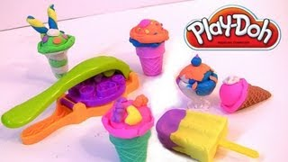 Play Doh Scoops 'n Treats DIY Ice Cream Cones, Popsicles