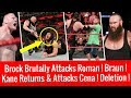 Brock Brutally Attacks Roman Kane Returns Attack John Cena WWE Raw 3 19 2018 Highlights 19 Mar