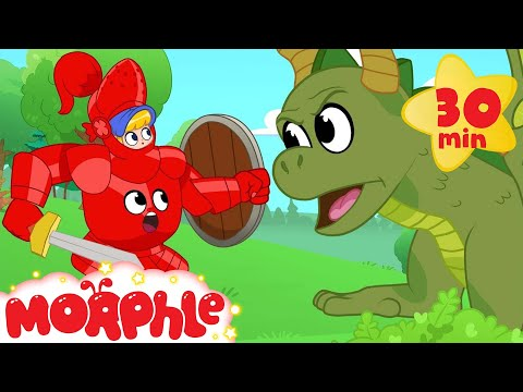 My Magic Knight Armor Morphle the super Hero becomes a Knight to fight a bad dragon Kids Video