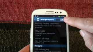 How To Enable USB Debuggin In The Samsung Galaxy S3 By