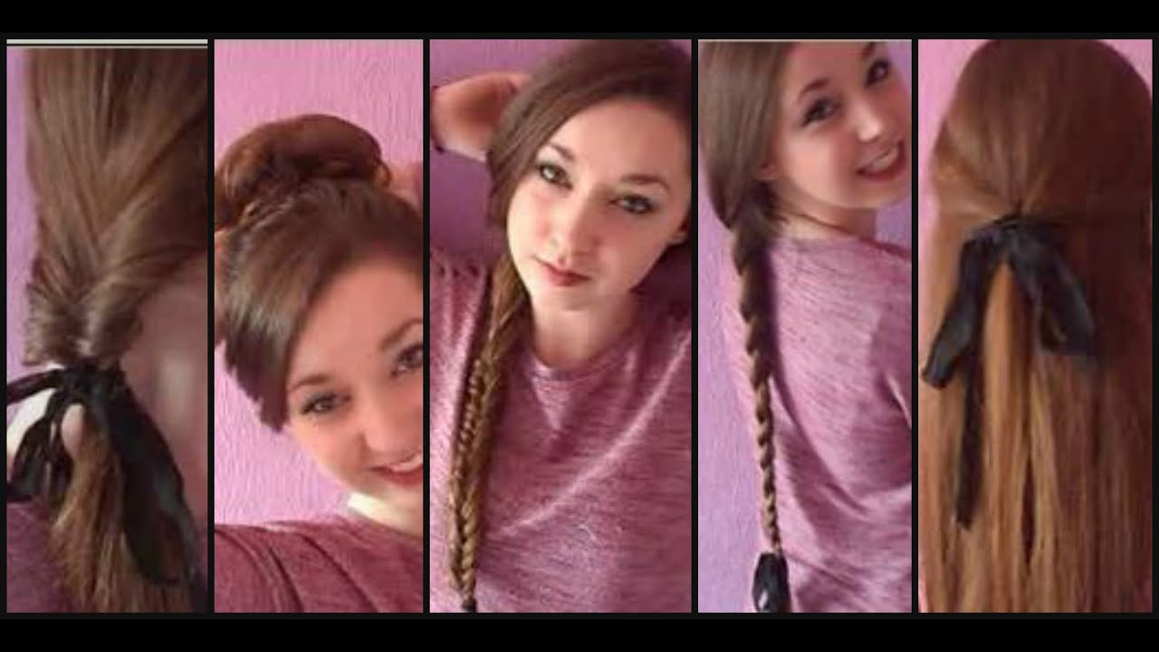 Running Late? 10 FAST Easy Hairstyles For School / College / Work!! - YouTube