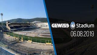 Il progress dei lavori al Gewiss Stadium aggiornato al 6 agosto