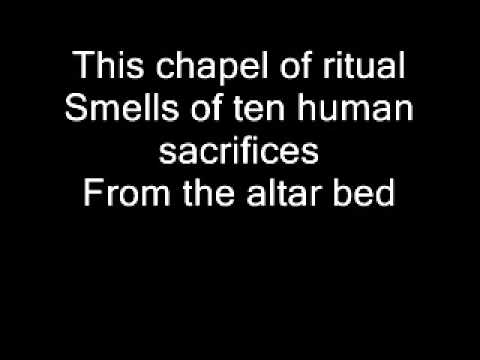 Ghost - Ritual Lyrics on screen
