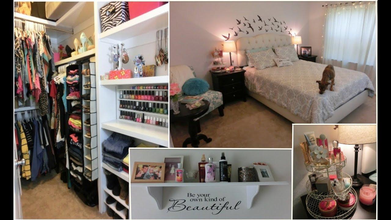 Tour de ma chambre dressing update concours ferm youtube - Tour de rangement maquillage ...