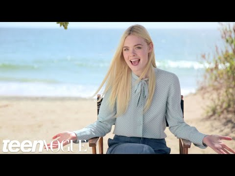 Summer Fun with Elle Fanning on the Set of Her Cover Shoot -- Teen Vogue's The Cover