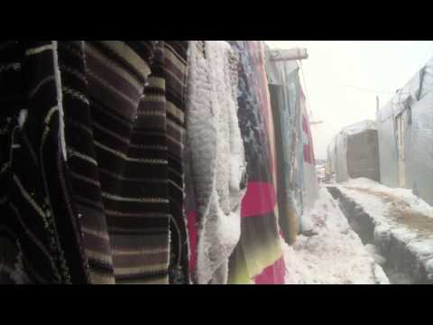 Snow and Syrians in Lebanon
