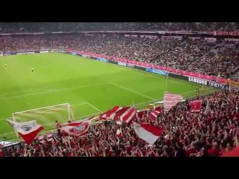 Ambiente no Allianz Arena Bayern Munich-0 Borussia Dortmund-3