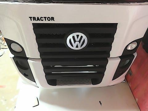 MINIATURA CAMINHAO DE MADEIRA VW CONSTELLATION truck tinber part.10 final