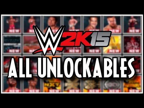 WWE 2K15 - All Unlockables! (Superstars, Attires, Arenas & Managers!)
