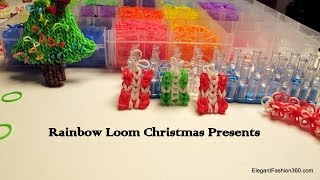 Rainbow Loom Holiday Christmas Presents Ornament And Charm