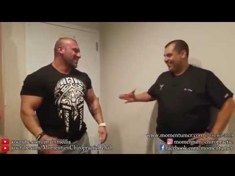 Chiropractic Adjustment on a Competitive Bodybuilder