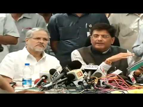 Press Conference by Shri Piyush Goyal on the issue of power crisis in Delhi.